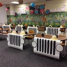I'm so excited for my kids to see our classroom! Next week we are going on a Safari! Thank you for helping make this happen! thmpride is part of Classroom - Jungle Theme Classroom, Classroom Setting, Classroom Door, Classroom Setup, Classroom Design, Future Classroom, Rainforest Classroom, Portable Classroom, Reading Corner Classroom