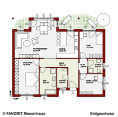 Favorit Massivhaus - Massivhaus Chalet 122 - Bungalow mit Einliegerwohnung