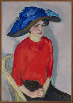Jan Sluijters - Portrait of a Lady in Red - c. 1912