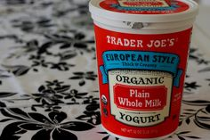 Full-fat yogurt from Trader Joe's! Hard to find whole milk yogurt anywhere but they have it!