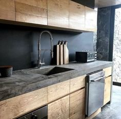 21 Modern Kitchen Ideas Every House Cook Requireme… – – cuisine moderne Home Decor Kitchen, New Kitchen, Home Kitchens, Kitchen Dining, Kitchen Ideas, Apartment Kitchen, Kitchen Wood, Modern Kitchens, Dream Kitchens