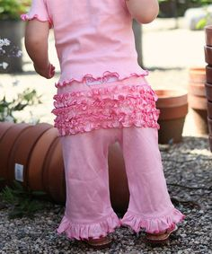 Take a look at this Pink Ruffle Pants - Infant & Toddler by RuffleButts on #zulily today!
