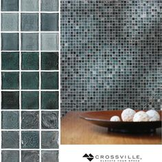"""Color yourself tranquil this #mosaicmonday with these soothing hues from the """"Water"""" collection of our Origins #glass #tile line.// #mosaics #instadesign #tiled #tiling #tilework #walltile #glasstile #archilovers #interior #interiors #interiordesign #tilelove #tileaddiction #backsplash #splashback #interiordesigner #interiorinspiration #kitchendesign #bathroomdesign #instaglam #instahome #instadecor #idcdesigners #ihavethisthingwithtiles by crossvilleinc"""
