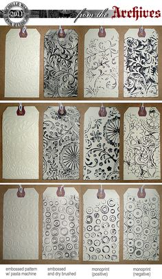 Michelle Ward Dry Embossed Tags