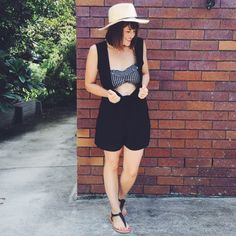 Summer Wardrobe by Pretty Chuffed. DFO Jindalee Cotton On playsuit AUD$15 and sandals 3 for AUD$10 | DFO Jindalee Factorie bikini AUD$19.95 | DFO Jindalee Supre hat AUD$15 https://www.facebook.com/DFOJindaleeQLD
