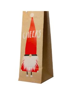 Cheers! Delivering cheer where ever he goes! Santa Gnome Wine Bag. Available at