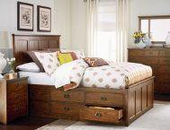 Oak Park Queen Storage Bed   Master Bedroom   Bedrooms   Art Van Furniture - Michigan's Furniture Leader