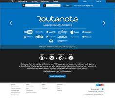 RouteNote è un servizio di distribuzione di musica digitale.  Ti offre la possibilità di inserire e vendere la tua musica in negozi digitali come ad esempio: iTunes, AmazonMP3 e Spotify.