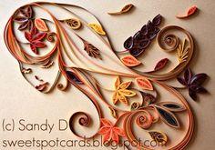 Autumn Lady - Sandy D - sweetspotcardsblogspot.com