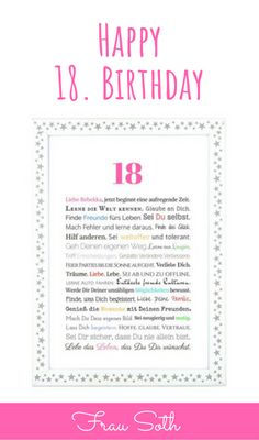 Pin Auf Geschenke Zum 18 Geburtstag