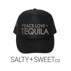c53906f112d Peace Love Tequila Women s Trucker Hat Black by saltysweetco Black Trucker  Hat