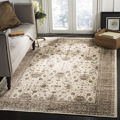 Safavieh Atlas Traditional Oriental Viscose Ivory Taupe Area Rug 8 X 10