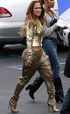 Her face.  Jennifer Lopez