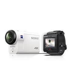 Sony Fdr-x3000r 4k Action Cam With Balanced Optical Steadyshot (carl Zeiss Vario Tessar Lens Gps Wifi Nfc) 60m Waterproof Housing And New Rm-lv3 Live-view Remote - White