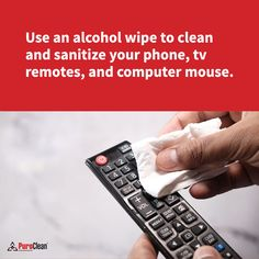 Here's a timely cleaning tip reminder for those everyday items that may not get cleaned regularly. House Cleaning Tips, Cleaning Hacks, Everyday Items, Clean House, Alcohol, Rubbing Alcohol, Liquor, Household Cleaning Tips