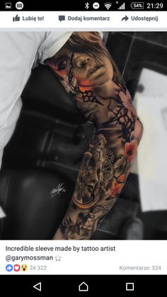 Sleeve Tattoos for Women Ideas and Designs for Girls, 100 Awesome Examples Of Full Sleeve Tattoo Ideas Art And. Sleeve Tattoos For Women Ideas And Designs For Girls. Arm Sleeve Tattoos, 3d Tattoos, Sleeve Tattoos For Women, Tattoo Sleeve Designs, Tattoo Designs Men, Body Art Tattoos, Portrait Tattoo Sleeve, Flame Tattoos, Zodiac Tattoos