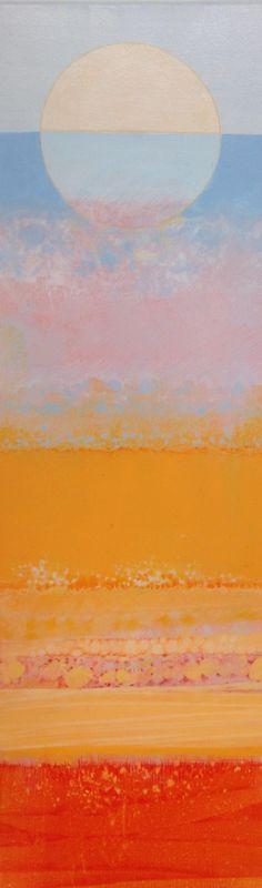 Judith Bergerson - Beach Walk 2. Acrylic and coloured pencil on canvas