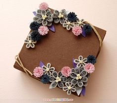 paper art   ... - Flower Frame   Origami and PaperCraft – Origami Paper Club