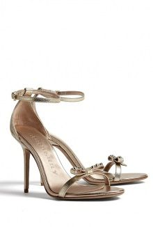 Metallic Trench High Heel Sandals by Burberry Shoes