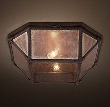 Parisian Octagonal Mirrored Glass Flushmount