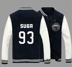 KPOP BTS Bangtan Boys Jung Kook J-hope JIN Jimin V Suga Cotton Sweatshirts Outerwears unisex Baseball Coat Jacket - Animetee - 3