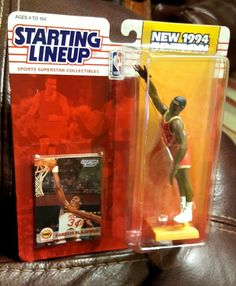 HAKEEM OLAJUWON Starting Lineup 1994 Action Figure Card NEW UNOPENED NBA Rockets #Kenner