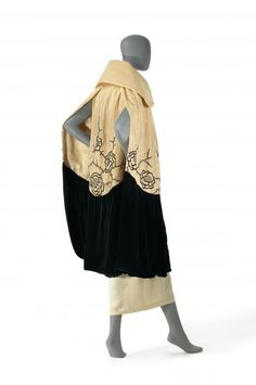 Evening cape  (c. 1924)  Artist/s name (ENGLAND)   Medium silk (crepe, velvet, thread), cotton and cotton-wool (interlining), glass (beads, diamanté) Place/s of Execution (England) Accession Number D250-1974 Credit Line National Gallery of Victoria, Melbourne