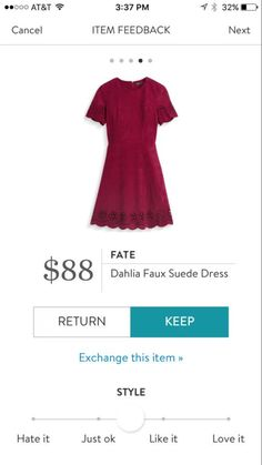 Fate Dahlia Faux Suede Dress