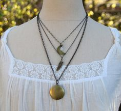 These layered necklaces are inspired by Stevie Nicks (for real).