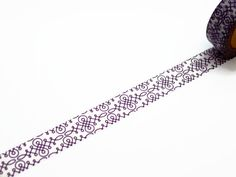 Flourish Washi Tape / Dark Purple and White Deco Tape / Calligraphy / Swirly Fancy Tape on Etsy, $4.28 CAD