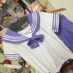 Japanese Sailor School Girl Costume Pastel Purple NWOT, from Taobao-> not best quality, really cute, tag = xl but fit like a S/M Taobao Other