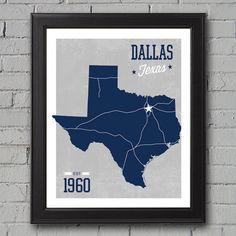 Dallas Cowboys Print  University Prints by UniversityPrints, $12.00