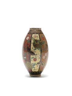Bond Street, Semi Transparent, Gold Wire, Floral Motif, Japanese Art, Kyoto, Period, Auction, Enamel