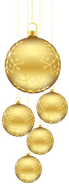 White and Yellow Christmas Balls Decoration PNG Clipart Image ...