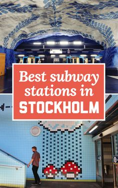 The Stockholm subway has been called the 'world's longest art exhibit' - it stretches for 110km. Here's my recommendations for a self-guided tour of the Stockholm subway stations, including the best ones for art! | A Globe Well Travelled
