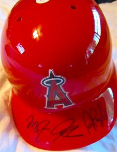 Los Angeles Angels Stars Autographed Batting Helmet