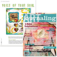 Free Article Download: Voice of Your Soul from Art Journaling - this is my article that was published in Art Journaling Magazine