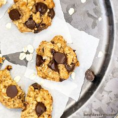 Oatmeal Chocolate Chip Cookies are morsels of chewy, oat-y goodness with a hint of chocolate! Enjoy warm or at room temperature Oatmeal Cookie Recipes, Oatmeal Chocolate Chip Cookies, Chocolate Morsels, Mini Chocolate Chips, Fun Cookies, How To Make Cookies, Fun Desserts, Dessert Recipes, Best Christmas Desserts