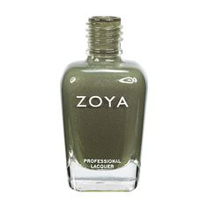 Zoya Yara - Yara by Zoya can be best described as a medium smoky olive drab with an illuminating splash of bright gold glitter.?? An olive drab that's anything but- it's completely glam.  Color Family - Green ; Finish - Metallic ; Intensity - 5 ( 1 = Sheer - 5 = Opaque ) ; Tone - Warm, Cool.