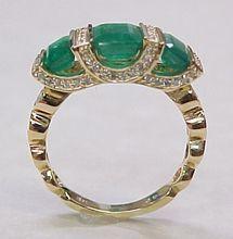 Amazing 3.0 ctw  Columbian Emerald & Diamond Ring 14K Gold