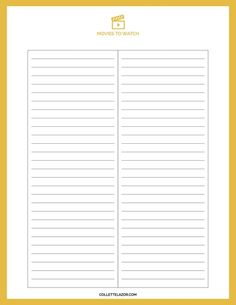 Movies to Watch List Printable   Made with Love by @collettelazor