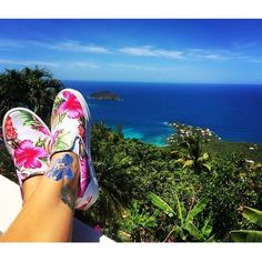 Hawaiian Floral Slip-On