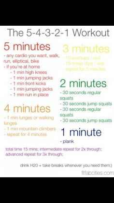The 5-4-3-2-1 Work Out!