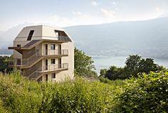 BFA | GI multi-family housing #architecture  #mountains #contemporary #modern #eco #sustainability #energy #saving #colors #color #minimal #Caldonazzo #Lake  #Trentino #Alto #Adige #Italy #studio #progettazione #architettura #interni #esterni #Trento #Bolzano