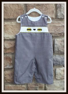 My future grandchildren will be wearing this. Smocked Batman Longall by Sprinkledsweet on Etsy, $36.00