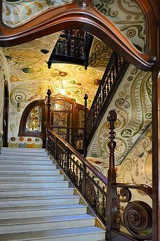 Interior Casa Comalats,  Modernisme Barcelona  Catalonia