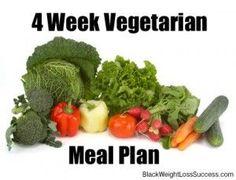 4 week vegetarian meal plan