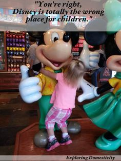"""""""You're right, Disney is totally the wrong place for children"""" Disney 