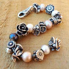 Trollbeads Flowers Of the Month Key Jewelry, Beaded Jewelry, Jewelery, Beaded Bracelets, Silver Jewelry, Pandora Bracelets, Pandora Jewelry, Bracelet Display, Michael Kors Jewelry