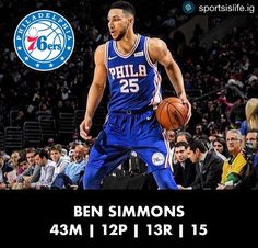 @bensimmons recorded his 3rd triple-double of the season. However the Lakers managed to come out on top in a thriller. - Tags: #sports #sportsislife #basketball #nba #philadelphia #sixers #awesome #tripledouble #thursday